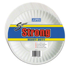 "Picture of SUPER STRONG 9"" COATED PAPER PLATE - WHITE - 1/600 CASE"