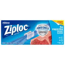 Picture of SCJP Ziploc Slider Freezer Quart Bag - 34 Count - 9 Per Case (SO)