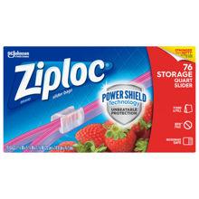 Picture of SCJP Ziploc Slider Storage Quart Bag Mega Pack - 76 Count - 9 Per Case (SO)
