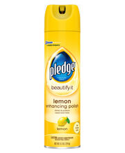 Picture of Pledge Beautify - Enhancing Lemon Aerosol - 9.7 oz - 12 Per Case