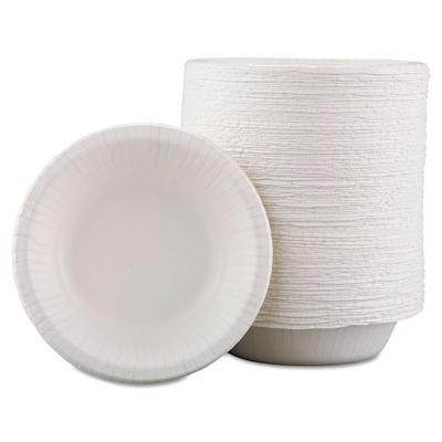 Picture of ULTRA 12 OUNCE COATED PAPER BOWL - WHITE - 4/125 CASE