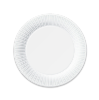 "Picture of ULTRA 7"" COATED PAPER PLATE - WHITE - 2/125 CASE (SO)"