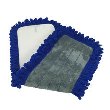 "Picture of Dust Mop - 24"" - Blue - W/Velco Back For Flat Mop Base - 1 Each - 6 Dozen Per Case"