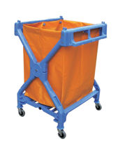 Picture of Blue Plastic X-Frame Collector Truck 6-Bushel Bag