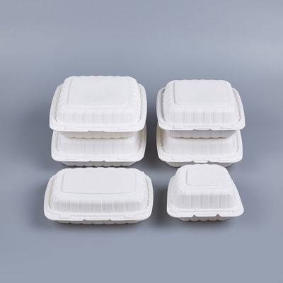 """Picture of PP WHITE HINGED CONTAINER - 8""""X8""""-  150PCS/CS - 1 COMPARTMENT"""