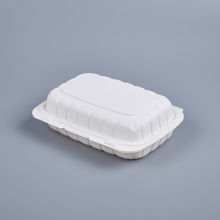"""Picture of PP WHITE HINGED CONTAINER - 9""""X6"""" -  150PCS/CS - 1 COMPARTMENT"""
