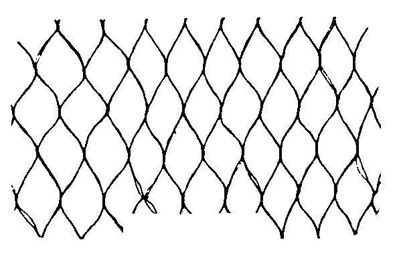 "Picture of HAIRNET - 26"" - BLACK NYLON - 1/8"" APERTURE - 100 PER BAG /10 BAGS PER CASE (1,000/CASE)"