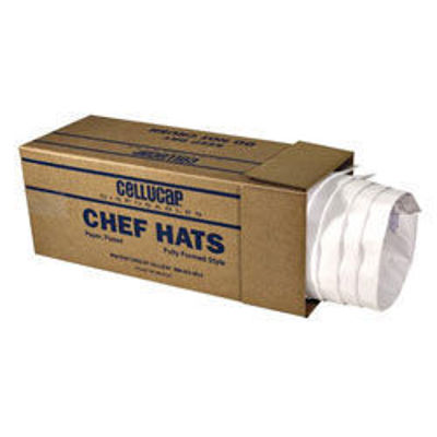 "Picture of CHEF HAT - 9""""LE FLUTE"" CORRUGATED/FLUTED STYLE CHCH HATS - FULLY FORMED 12 PER CASE"