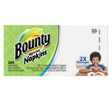 Picture of BOUNTY QUILTED NAPKINS - WHITE PRINTS KDF - 200 NAPKINS PER PACK - 12 PER CASE