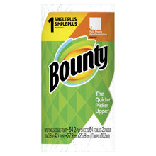 Picture of BOUNTY REGULAR WHITE KITCHEN ROLL TOWEL - 54 SHEETS PER ROLL - 24 ROLLS PER CASE - 42 SQF