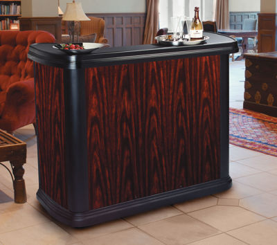 Picture of MAXIMIZER PORTABLE BAR - CHERRY WOOD