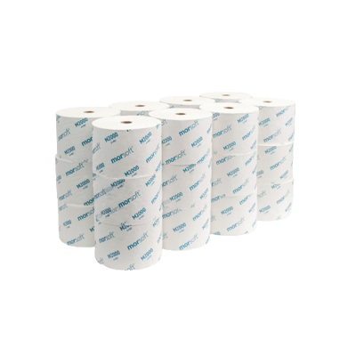 "Picture of MORSOFT M2000 1-PLY BATH TISSUE - WHITE - 4 X 3.9"" - 2,000 sheets/ROLL - 24 PER CASE (48)"