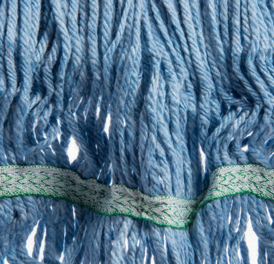 Picture of FLO-PAC MEDIUM LOOPED-END MOP WITH GREEN BAND - BLUE - 12/PACK