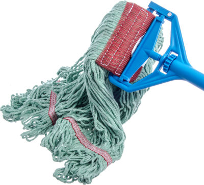 Picture of FLO-PAC LARGE LOOPED-END MOP WITH RED BAND - GREEN - 12/PACK